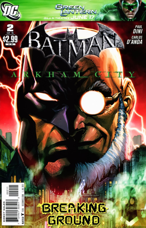Batman: Arkham City #2 Issue Score - 9/10 Arkham City #2 splits itself between two plotlines, the grand opening ceremony of Arkham City with Bruce's subsequent investigation into Mayor Sharp and the Joker's transport to Arkham City. Of course both the investigation and Joker's transport do not go as planned. The comic ends on the note that bigger things are in the works that will leave lasting repercussions. This issue continued the momentum of the first issue and made me constantly want more. The plot overall was well done, though a little predictable, and has made me really look forward to the next issue and eventually the game. The one thing that really made this issue though was the Joker plotline. Everything about it just felt right. All the jokes and one-liners were quite funny, Harley felt like Harley and the conclusion of it made me really want to see what Joker has up his sleeve because now I am questioning who will be the real mastermind at the conclusion of the game. Arkham City has once again amped up the stakes and brought the fuse closer to the metaphorical powder keg that will eventually explode. When the dust settles, Gotham will survive the blast, but things will never again be the same.