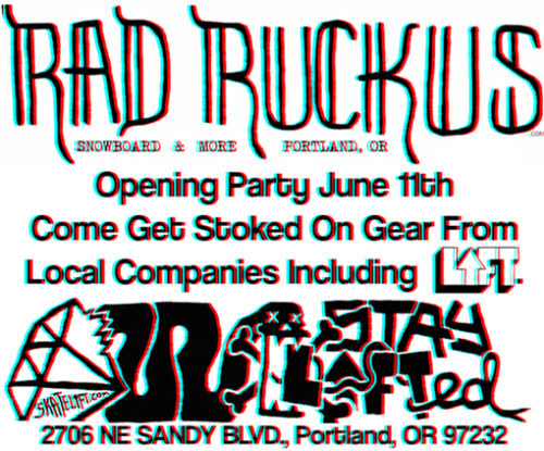 skatelift:  LIFT SUMMER LINE RELEASE TODAY @ RAD RUCKUS PDX: 2706 NE Sandy STAY LIFTED
