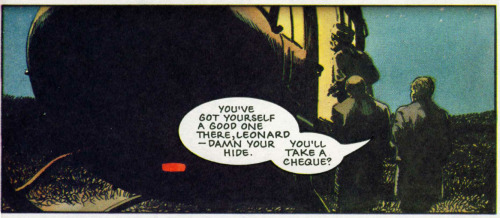 "Saturday Series: A panel from 2000 AD ""Button Man: The Killing Game part 5"", prog 784, 23 May 1992. Art by Arthur Ransom What I like most about this panel is the light from the helicopter's interior and the way it lights up the faces of the men outside."