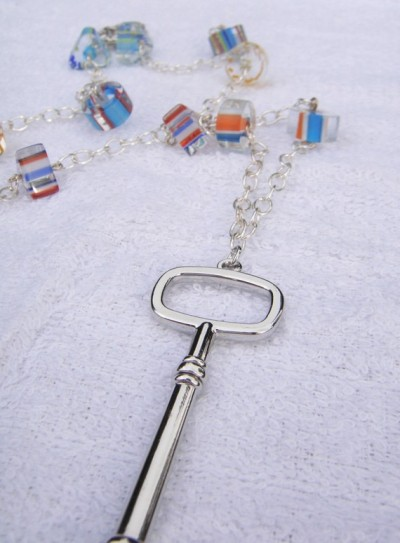 (via Modern Key Necklace by kjtgp1 on Etsy)