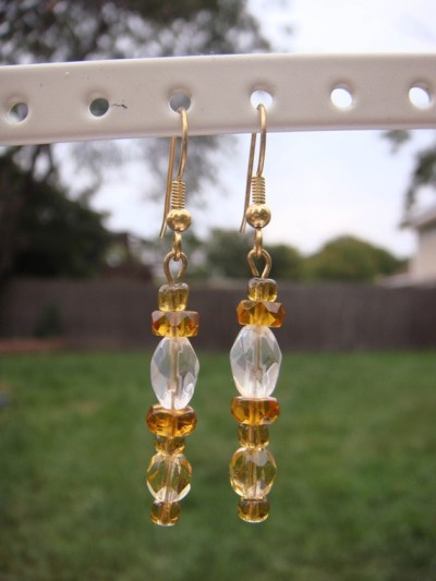 Amber Earrings (via Amber Earrings by kjtgp1 on Etsy )