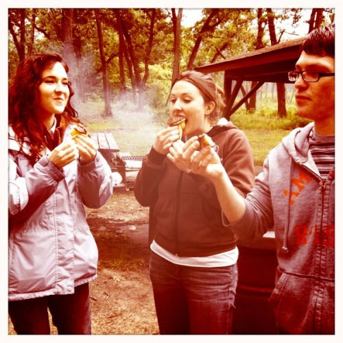 Cupcakes at the picnic shelter. Kaimal Mark II Lens, Blanko Film, No Flash, Taken with Hipstamatic