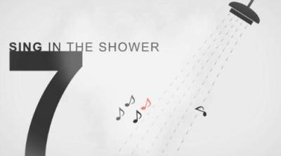 How to stay creative. #7: Singing in the shower