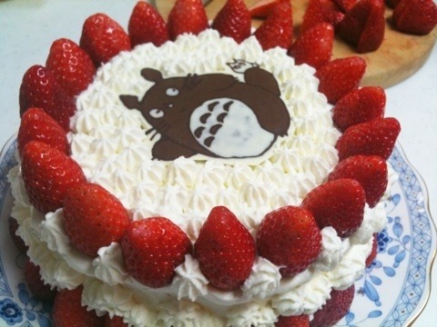 poisoned-apple:  Totoro birthday cake (via sakuranoke-ki)