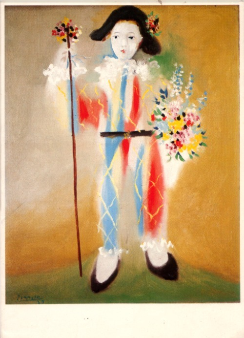 Pablo Picasso - Paul Dressed as Harlequin, 1929.