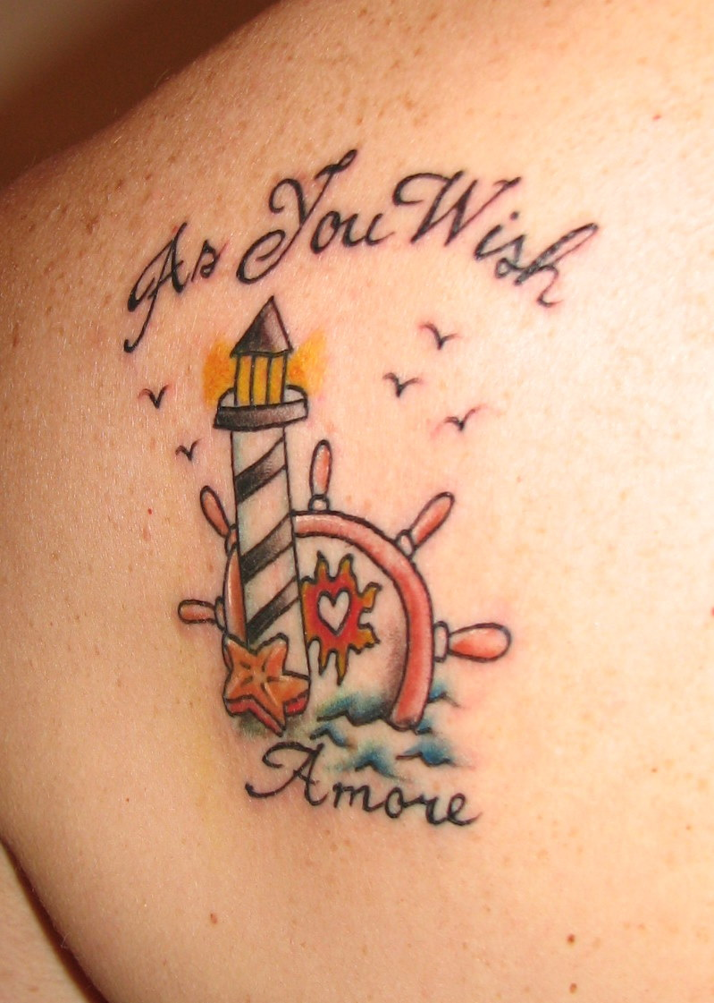 fuckyeahtattoos:  my mom's nautical tattoo