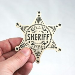 i need this sheriff badge in my life