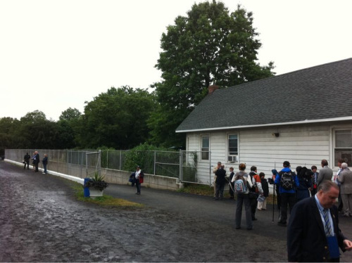 The Belmont Stakes walk over to the paddock doesn't stir quite the same din