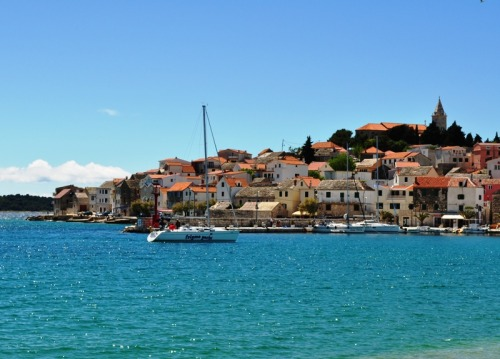 A beautiful peninsula in the Adriatic sea, Primosten, Dalmatia, Croatia