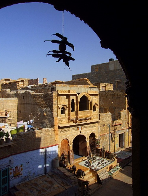 Jaisalmer, India, captured early in the morning in the old city, within the walls of the old fort