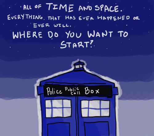 This time Alex get's bored and draws the TARDIS.