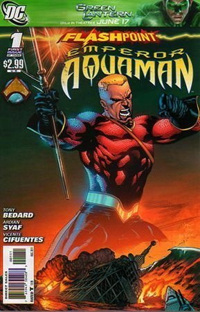 FLASHPOINT: EMPEROR AQUAMAN #1 Score: 7.75/10 I have to be honest, I've been wanting to read this FLASHPOINT tie-in ever since they released the first posters. I thought it looked really intense and epic, especially for Aquaman. This week I got to find out if it was. Issue #1 opens with Aquaman swimming through, a now sunken, Rome reflecting on what lead to this day. In the Flashpoint universe the Atlanteans and the Amazons are at war. The Amazons have taken over Great Britain and the Atlanteans have sunken Western Europe. With this first issue we find out about the months leading up to their drastic moves. We discover one of the biggest reasons that the gentle Arthur of Atlantis has become the tyrant Emperor Aquaman.  The writing in issue #1 is solid, for the most part. It doesn't flow amazingly  well though. It has pockets of awesome and pockets were it drags like crazy. Bedard has done a good job with this twist on Aquaman. The art in issue #1 is actually done really well, and I don't really have anything negative to say. The color use is really good, a little heavy on the red spectrum, but I think there are obvious reasons behind this and it serves as a great contrast to the blue tones of Aquamans Ocean home. The saturation used by inker Cifuentes is done really well, giving us a dark feel with hitting us in the face with panels that are half covered in black ink. This was a really good pick up and covers one of the biggest stories going on in the Flashpoint universe. I'm excited to continue this series and getting to nab Sarah's copy of WONDER WOMAN AND THE FURIES #1 next week to see how the other end of this epic war looks.