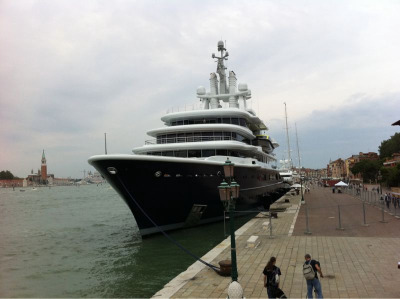 Roman Abramovich's subtle yacht the Luna, Venice June 2011.