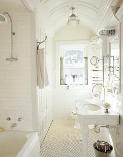 very nice white bathroom