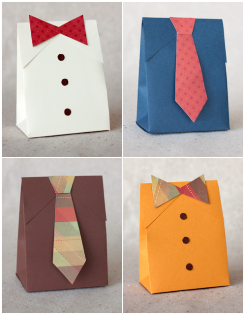 Wrap up that present in style with these Father's Day Shirt & Tie gift boxes by Paper Crave! (via)