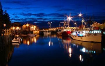 Hall's Harbour at night (Nova Scotia, Canada)