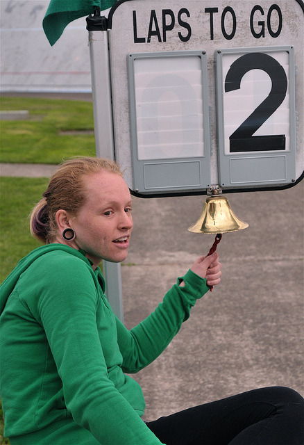 CTH_2739 by Velorazzo on Flickr.Erin Glover rings the bell at Alpenrose Velodrome during Fast Twitch Friday Portland, Oregon June 2011 Photo by Jose Sandoval