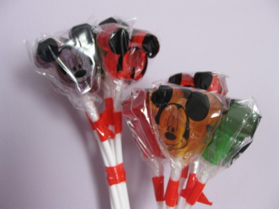 Mickey Mouse lollipops.