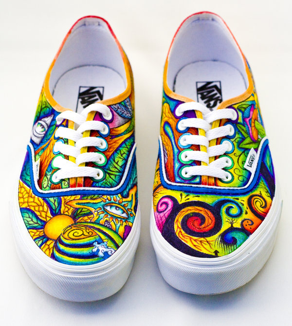 My friend Erin did something like this to her Vans in high school.