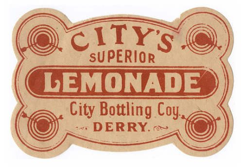 Vintage Lemonade label (via: flickr)