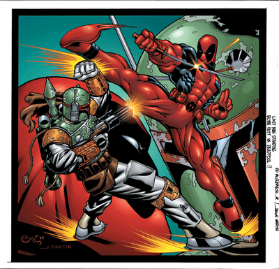 avengersassembled:  Deadpool vs Boba Fett by Ed McGuinness