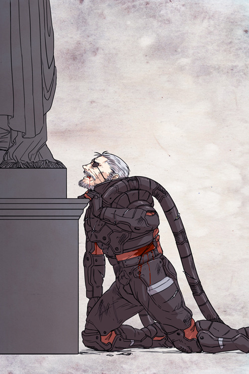 I quite liked Solidus's death in MGS2, so here is art of it!