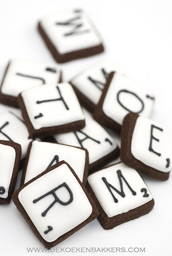 Scrabble cookies (by De Koekenbakker)