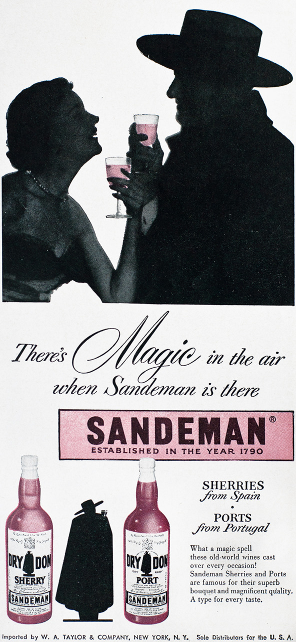 Sandeman Advertisement - Gourmet: June 1955