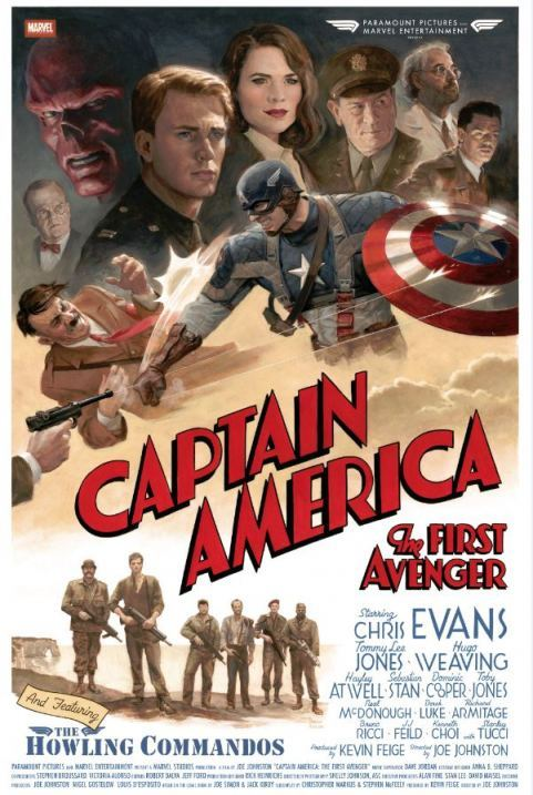 AWESOME Captain America Poster Art! Visit us at : www.thelittlestpictureshow.blogspot.com