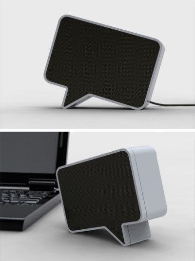 Speaker That Looks Like A Speech Balloon