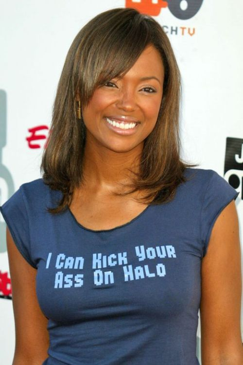 "Aisha Tyler Here's another wonderfully lovely woman who also  happens to be smart, funny and nerdy - as she thoroughly proved during her  brief run as a sit-in for Roger Ebert. She graduated from Dartmouth ""yes it's really officially Ivy League"" College.  She likes Kung-Fu movies.  She plays video games. Done."