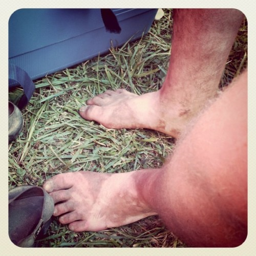 Dirtiest feet at #Bonnaroo ? p.s. Not my feet. #justsaying  (Taken with instagram)