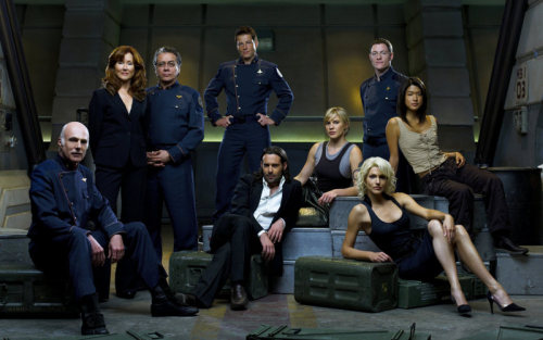 "BBC America is now running the complete series of Battlestar Galactica from the very beginning. Part 1 of the miniseries premiered last night after the mid-season finale of Doctor Who. I had to watch it. I couldn't look away. I was pulled in all over again. And now I'm in full on BSG obsession mode (again), so beware, there will probably be an onslaught of cylon goodness coming your way in the next few days/weeks/months. I've missed this show, the story, and the characters so much.  And every time I see Jamie Bamber's face I can't stop exclaiming, ""How do you even exist with that face?"" But I will tell you, I love knowing how it all ends this time. I love knowing the amazing story arcs these characters are going to make over four seasons, and I think it's going to be fun watching them grow again. I hope by posting about it I can get just a few more people to watch this show, because it really is a show you don't want to go your whole life without seeing. It's that good. And no, I'm not exaggerating. It's not just a science fiction-type show, it's a damn character drama, set in space, set during a war for the last people of humanity. You have the chance to see it all from the beginning Saturdays at 7 on BBC America. Do it. Watch it, guys. I promise it's amazing. And seriously, if you don't care about the story, just look at Jamie Bamber. And James Callis. And eventually you'll find Michael Trucco. There's no reason you shouldn't want to drool over them. So just do it already."