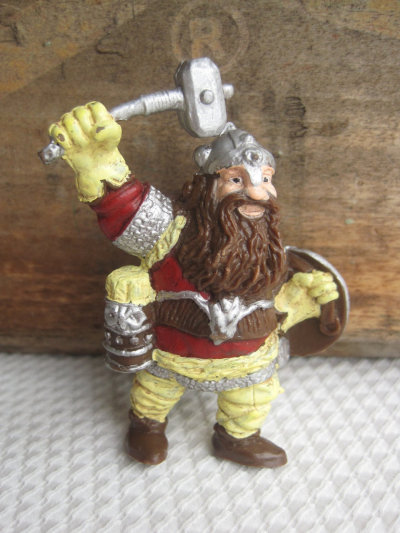 "Vintage Dungeons & Dragons ""Dwarf of the Mountain"" Figurine by corrnucopia"