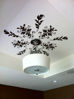 Add some flair to your ceiling with vinyl wall decals via ChiKKaBoom