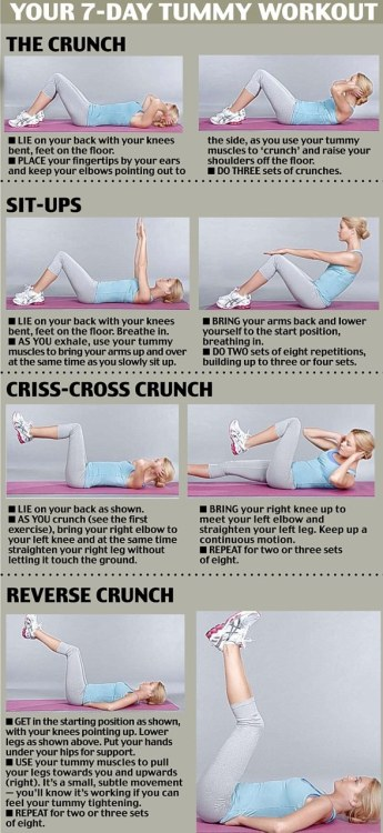 Tummy workout.