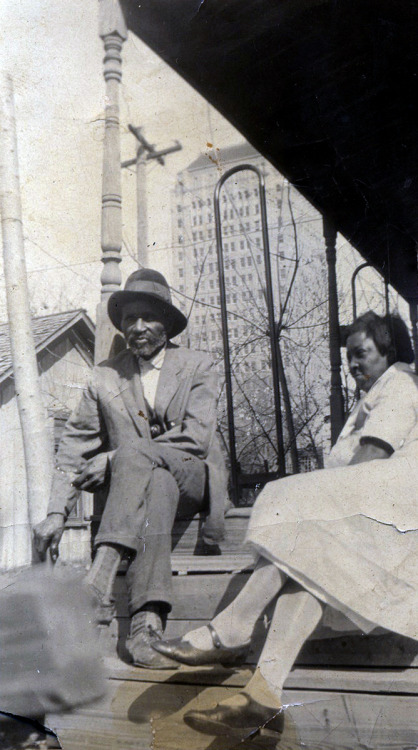 Mama & Daddy on the porch. [Williams Family Album, 1920's] ©WaheedPhotoArchive, 2011