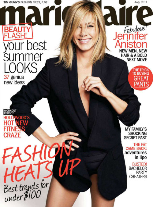 Jennifer Aniston in Marie Claire US, July 2011.