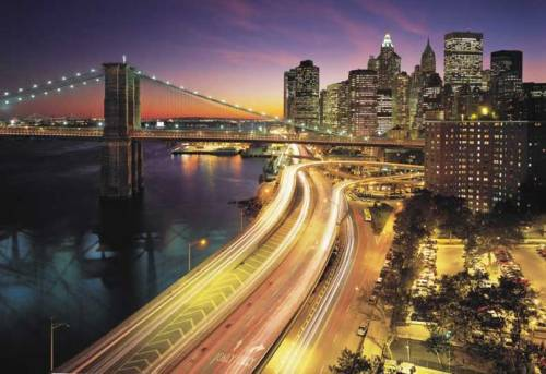 Brooklyn Bridge at Riverside Drive, New York City (via NYC Lights Wallpaper Mural | New York Murals | Photo Wallpaper Murals Gallery)