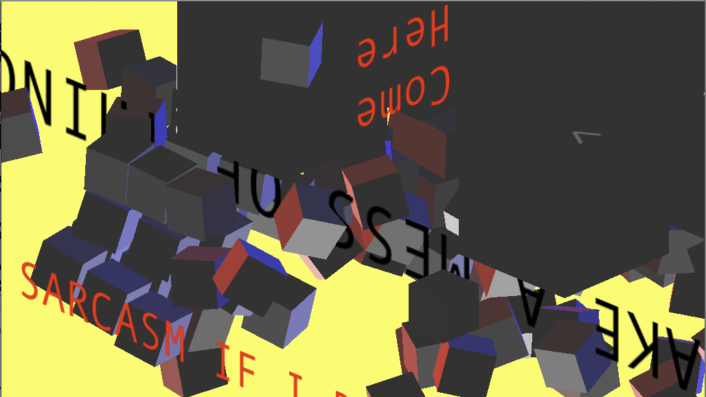 Down & Up is the first in a series of weekly experimental interactive pieces I've tasked myself with completing this summer. I need to get some of these half-formed ideas out of my head. Play it on my website or on Kongregate if you'd like to help give me some money.
