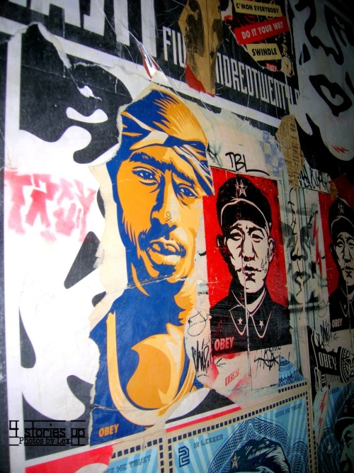 Obey Wall at Crash Mansion, NYC.