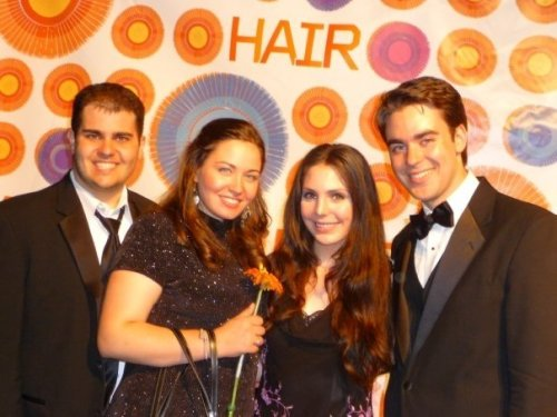 TONY Memories: at the HAIR after-party in 2009 with my TONY Four.