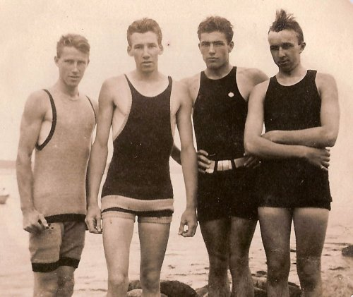 men's bathing suits, c. 1910