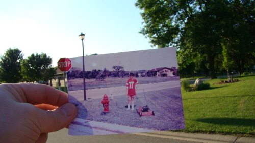 dear-photograph:  Dear Photograph,  That stop sign gave me a good excuse to stop cutting the lawn. Tim Freeland
