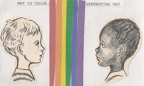 Why is color separating us?  Because being gay doesn't necessarily mean you don't have white privilege and benefit from a system of racial injustice.