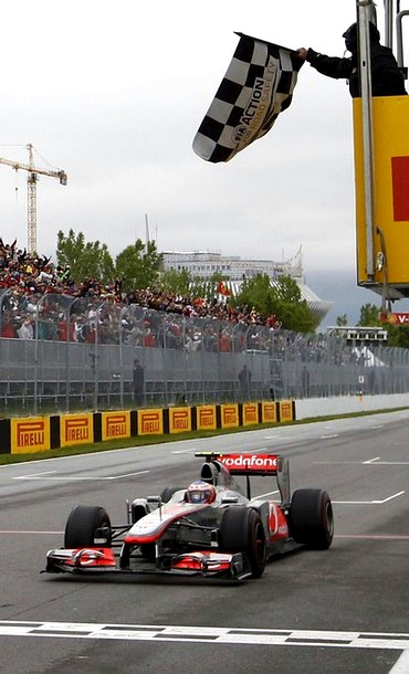 fuckyeahmclarenf1:  Jenson wins the Canadian GP - June 12th (2011)