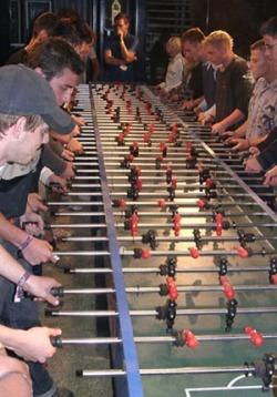 inventfootball:  The most epic game of foosball that ever did exist