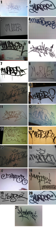 fuckyeahstreetlights:  weeklygraffbattles:  HANDSTYLE ENTRIES! READ THE VOTING RULES CLICK HERE FOR FULL SIZED (RECOMMENDED)  I'm #2, get your votes up! You get to vote for 3 choices!  Okay, so both on this one and the last one, I picked my favorites, scrolled down, and THEN found out I had picked fysl's both times!