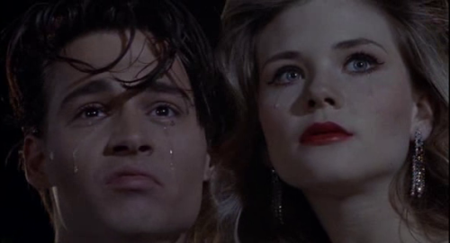 Everybody cries. Cry-Baby (1990) directed by John  Waters. Starring Johnny Depp, Amy Locane, Iggy Pop, Traci Lords, Ricki  Lake, Kim McGuire, David Nelson, Susan Tyrrell and Patty Hearst.