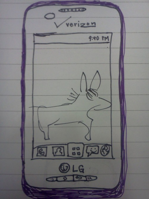 I feel weird so I drew my new phone. I think after years of refusal to commit, I have decided purple is probably my favorite color and I'm gay